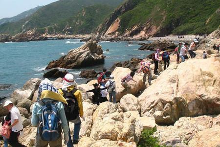 深圳东西涌徒步团建活动,经典海岸线徒步穿越!